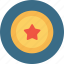 achievement, award, bedge, label, medal, star icon