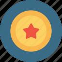achievement, award, bedge, label, medal, star icon