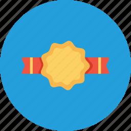 bedge, label, milestone, office, reward, ribbon icon