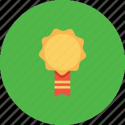 achievement, award, employee, label, milestone, office, ribbon icon