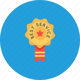 bedge, best, label, office, ribbon, service, star icon