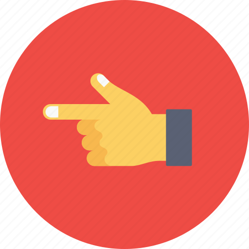 finger, hand, office, pointing, straight, thumb icon