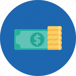 coin, currency, dollar, finance, money, office, salary icon