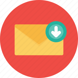 email, inbox, letter, mail, message, office, receive icon