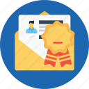 award, bedge, email, letter, newsletter, offer, office icon
