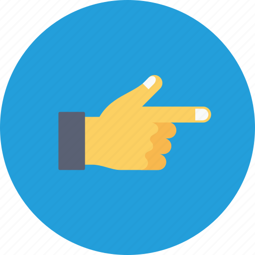 addressing, finger, hand, office, pointing, right, thumb icon