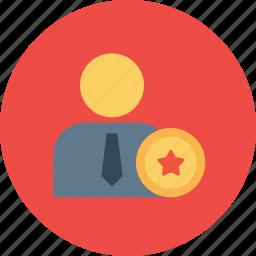 award, bedge, best, employee, office, reward, star icon