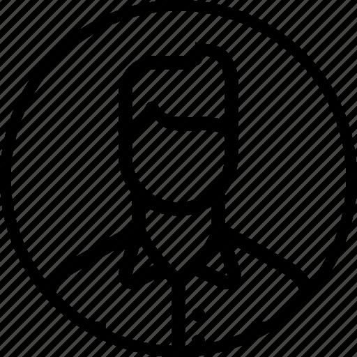 avatar, businessman, employee, man, office, person, user icon