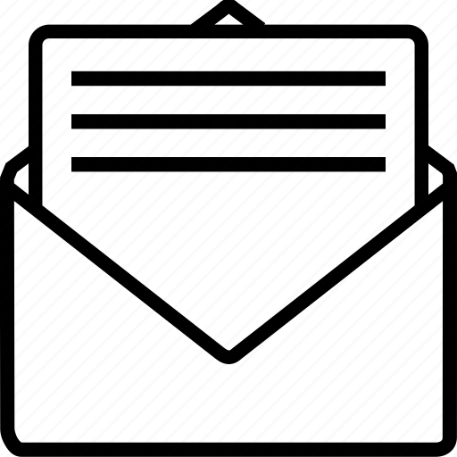 email, envelope, letter, mail, message, notice, office icon