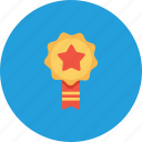 achievement, award, employee, label, milestone, office, ribbon icon