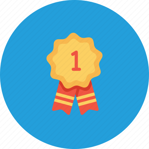award, best, employee, number, one, position, ribbon icon