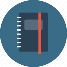 diary, employee, folder, notebook, notepad, office, writing icon