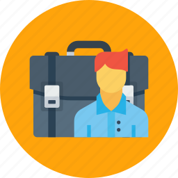 bag, case, employee, office, portfolio, woman, work icon