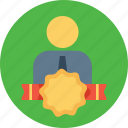 award, bedge, employee, label, milestone, office, staff icon