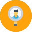 business, candidate, employee, find, recruite, recruitment, search icon