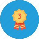 achievement, employee, office, position, rank, runnerup, third icon
