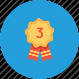 achievement, employee, office, position, rank, runnerup, third icon