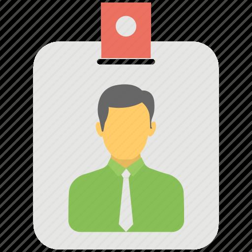 Identity card, id badge, id card, card, job card icon