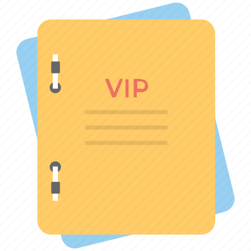 confidential files, important files, office files, vip, vip documents icon