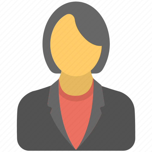 businesswoman, businesswoman avatar, female businessperson, female employee, female office worker icon