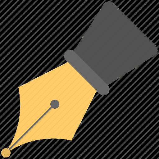 fountain pen, pen, pen nib, pen tip, writing icon