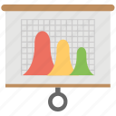 business analysis, business graph, flip chart, graphic presentation, statistics icon