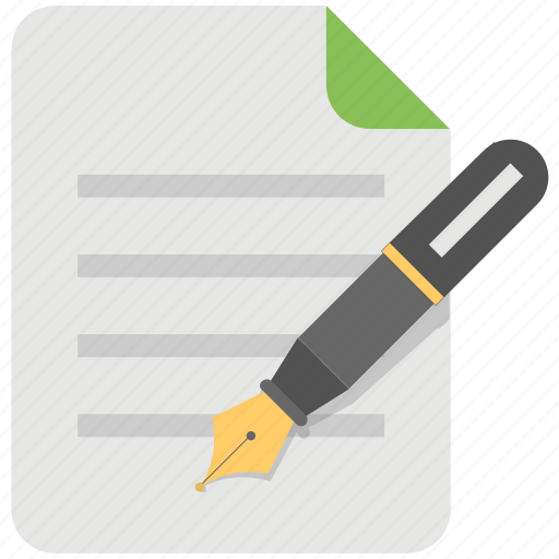 business document, compose, note, texting, writing icon