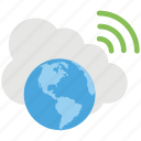 cloud accessibility, global cloud computing, global cloud network, global wifi connection, global wifi network connection icon