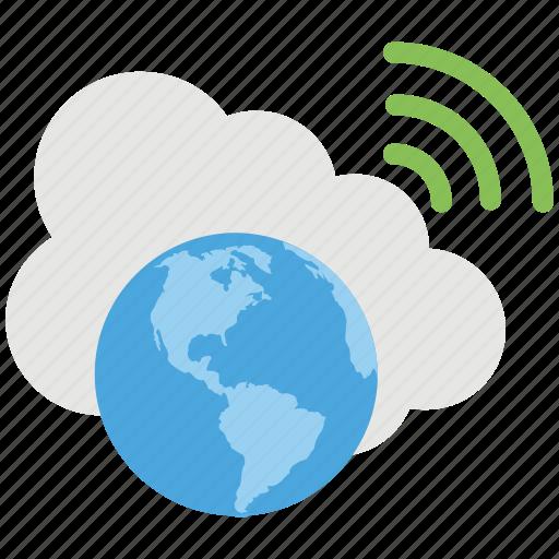 cloud accessibility, global cloud computing, global cloud network, global wifi connection, global wifi network connection icon