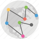 digital world map, global digital network, global mesh network, global network, world network icon