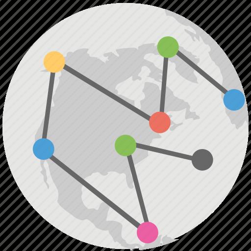 digital world map, global digital network, global mesh network, global network, world network icon