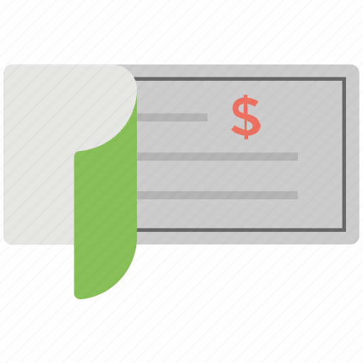 Chequebook, bill of draft, bank and finance, bill of exchange, checkbook icon