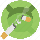ashtray cigarettes, cigarette smoke, injurious habit, smoking concept, tobacco addiction icon