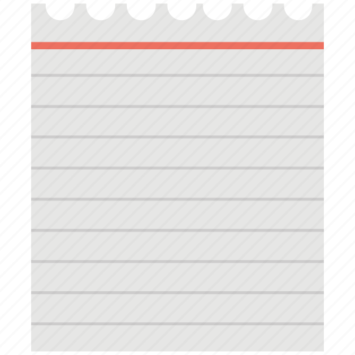 document, notebook page, notepad, sheet, stationery icon