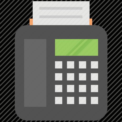 billing machine fax machine invoice printer receipt icon