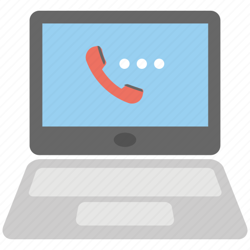 call via internet, internet call, live call, online call, voice call icon