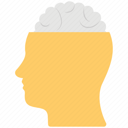 Creative mind, human brain, intelligent, ideology, bright idea icon