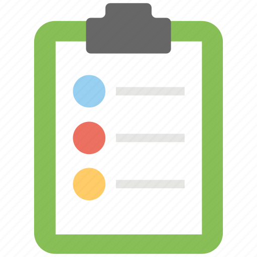 Checklist, task, survey list, product list, schedule icon