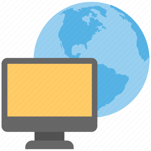computer technology, global network, global technology, internet concept, worldwide connectivity icon