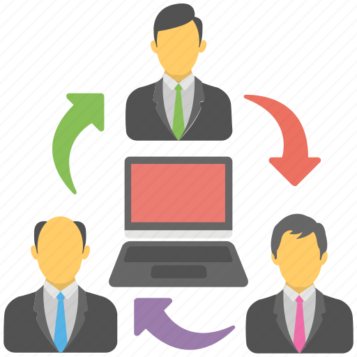 freelancers, online employee, online office work, online official team, remote staff icon