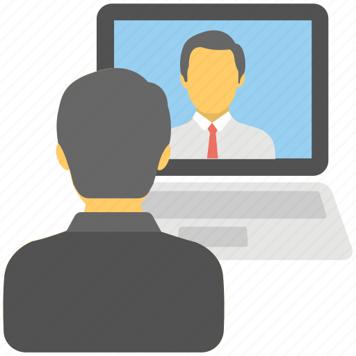 live chat, support, video call, video chat, video conference icon