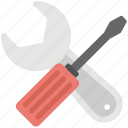 garage tools, repairing, screwdriver, settings, wrench icon