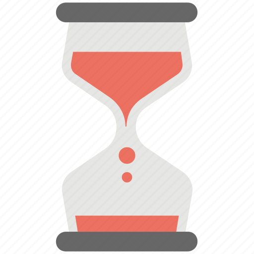 egg timer, hourglass, loading, processing, retro timer icon