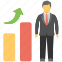 career growth, individual success, personal development, progress, promotion icon