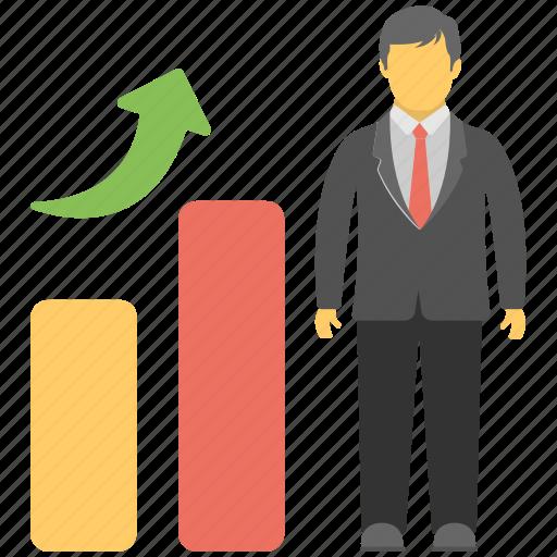 career growth, individual success, personal development, progress, promotion icon