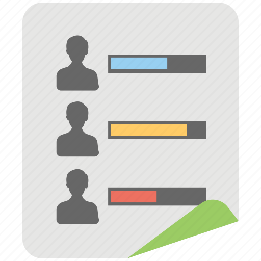 comparative data, customer engagement chart, profile rating, profile score, web visitor icon