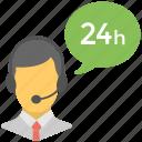 24 hr customer representative, client support, customer support, full time helpline, help center