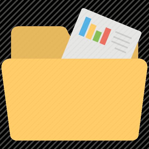 charts folder, financial folder, official files, official material, statistics folder icon