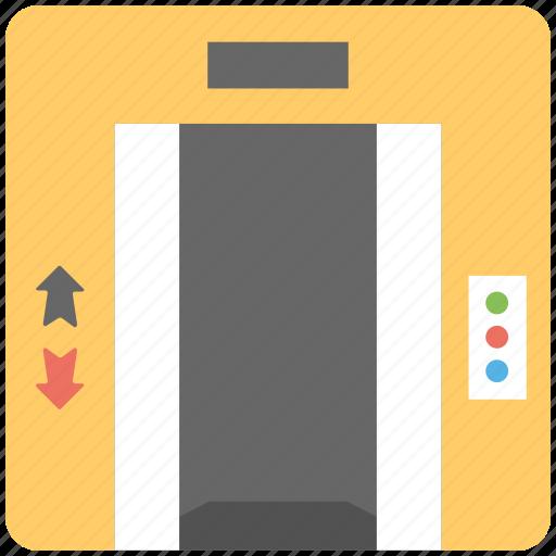 closed elevator, elevator, elevator door, lift, modern elevator icon