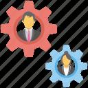 business development, business progress, businessman, management strategy, workflow icon